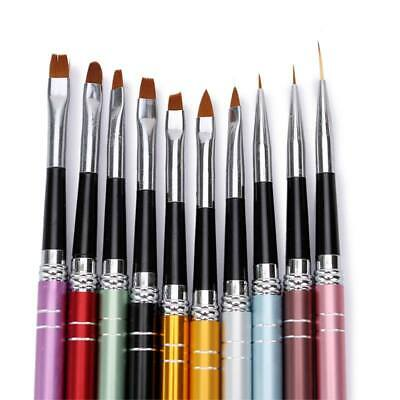 Nail Art Brush UV Gel Creative Painting Drawing Pens Manicure Tools UK 10pcs/set