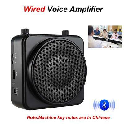 AKER PA Voice Amplifier Booster Audio Loudspeaker +Wired Microphone For Tourist