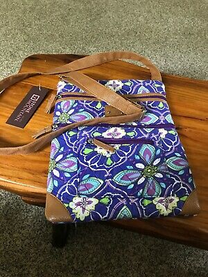 Stone Mountain Purple Floral Quilted Crossbody Purse Bag NWT NEW