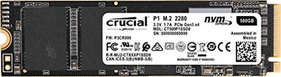 Crucial P1 - Solid State Drive - 500 Gb - Internal - M.2 2280 - Pci... NEW