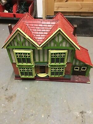 HAND crafted wooden TOWN HOUSE 1950s The Bedrooms With Garage Kleeware Furniture