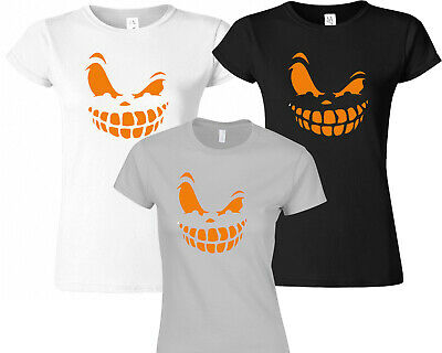 Angry Pumpkin Face Tshirt Mens Boys Halloween Costume Outfit Top T Shirt 441