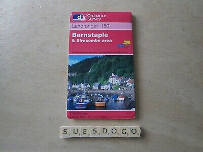 Os Ordnance Survey Landranger Map 180 - Barnstaple & Ilfracombe Area - 1994