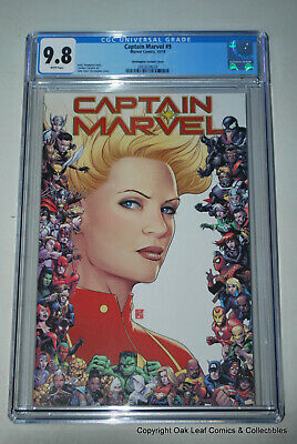 Captain MArvel Christopher Variant CGC 9.8 NM/M Marvel Comic Book 2019