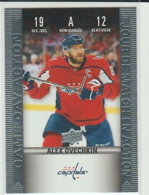 2019-20 Tim Hortons Game Day Action # HGD-12 Alex Ovechkin