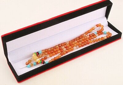 Precious Chinese Agate Necklace Sweater Chain Ladies Decorative Fashion Gift