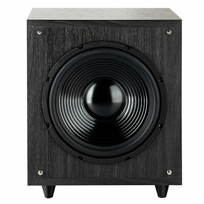 """10"""" 400W Powered Active Subwoofer Front-Firing Woofer Surround Sound Home Black"""