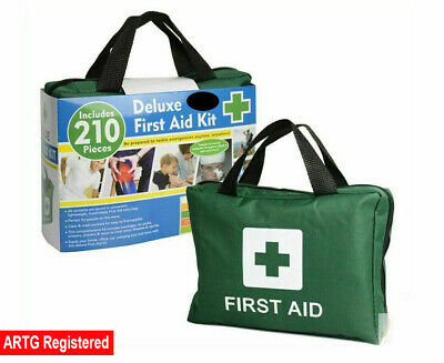 210Pcs Deluxe First Aid Medical Kit Travel Safe Workplace Family Emergency ARTG