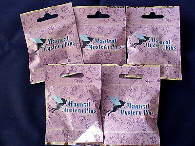 Disney * MAGICAL MYSTERY PINS - SERIES #12 * 5 PACKS * NEW Mystery Pack Pins