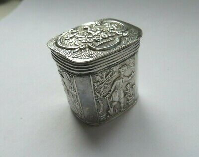 Beautiful Antique Solid Silver Dutch Peppermint Box 1884