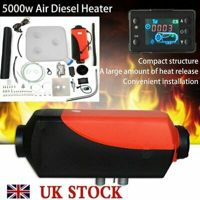 5000W LCD Air Diesel Heater PLANAR 5KW 12V for Car Truck Motor-Home Boat Bus ~UK