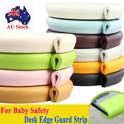 Baby Safety Desk Table Edge Corner Protector Cushion Guard Strip  Foam Bumper ^