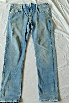 Boys H&M Jeans eur170 Age 14 yrs Slim Fit Light Indigo Blue  Excellent Condition