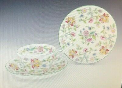 Minton Bone China Haddon Hall Cup Saucer & Tea Plate Trio