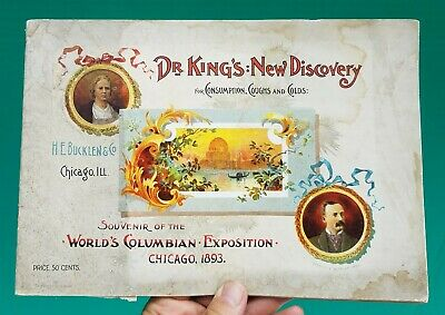 1893 Columbian Exposition DR KINGS NEW DISCOVERY Quack Medicine Souvenir booklet