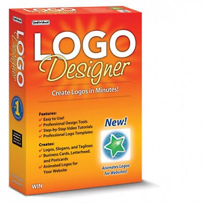 LOGO DESIGNER PC Software (Latest Version) Win 10, 8,7,XP & MAC new