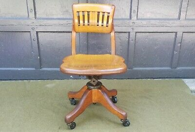 Antique Johnson Chair Co Company Chicago Swivel Chair
