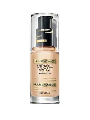 Max Factor Miracle Match Foundation Blur & Nourish Shade 47 Nude Sealed