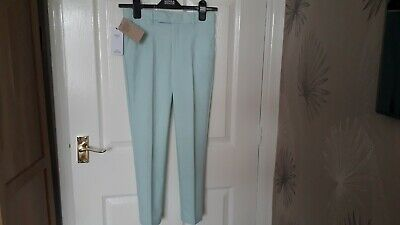M&S 'Kids' Girls' Slim Fit Supercrease Trousers Blue Mix Age 9-10 Bnwt