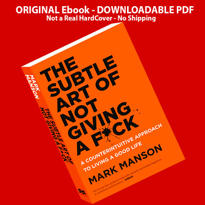 The Subtle Art of Not Giving a F*ck by Mark Manson - (ElBook, EPUB, MOBI, P.D.F