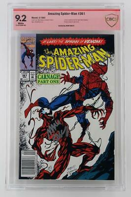 Amazing Spider-Man #361 - CBCS 9.2 NM- Marvel 1992 - 1st App of Carnage! Signed!