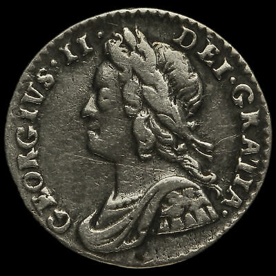 1754 George II Early Milled Silver Maundy Penny