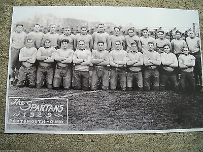 Photo 1929 Nfl Portsmouth Ohio Oh Spartans Football Team Detroit Lions