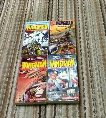 WINGMAN by MACK MALONEY lot of 4 paperbacks