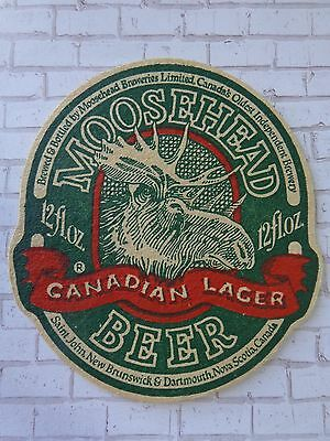 Beer Bar Coaster ~ Moosehead Canadian Lager Canada's Oldest Independent Brewery