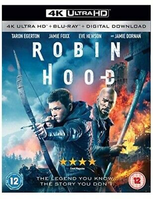 Robin Hood 4K Ultra Hd + Blu-Ray [Uk] New 4K Bluray
