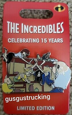 New Disney Parks Pin (Incredibles 15th Anniversary - Dinner Table Scene) LE 3000