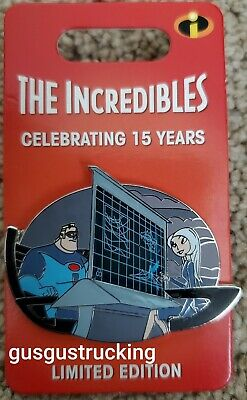 New Disney Parks Pin (Incredibles 15th Anniversary Mr Incredible Mirage) LE 3000