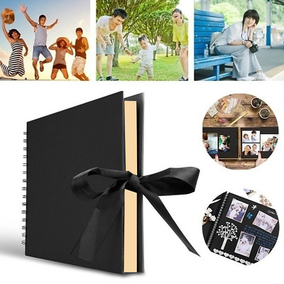 Spiral 80 pages Black Guest Book Photo Booth Album Scrapbook Paste Wedding Gift