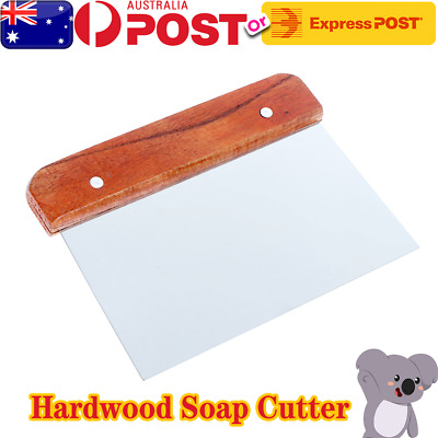 Hardwood Soap Cutter Straight Stainless Handle Soap Cutter Wax Dough Slicer Cake