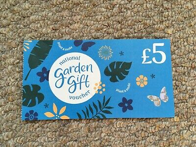 10% OFF! £5 National Garden Gift Voucher - Exp. 2022, Nearly New Gift Quality!