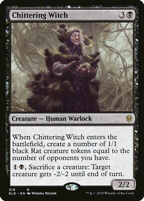 Mtg Chittering Witch Exc - Chittering Witch - Eld-X - Magic