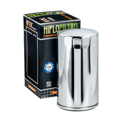 Hi Flo HF173C OIL FILTER HARLEY 63813-90 CHROME