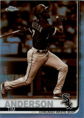 2019 Topps Chrome Sepia Refractors #186 Tim Anderson - NM-MT
