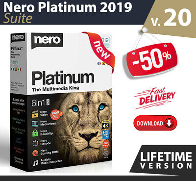 Nero Platinum 2019 Suite 4k multimedia > DVD/CD burner > LifeTime > Download