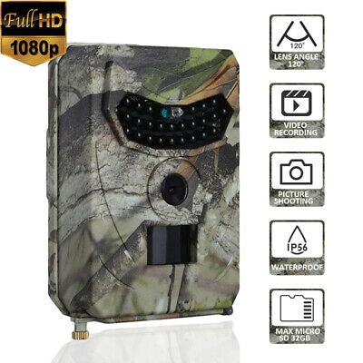 PR-100 12MP 1080P Hunting Camera HD Video Wildlife Trap Trail Cam Night Vision
