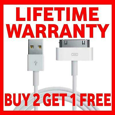 Genuine Charging Cable Charger Lead For Apple iPhone 4, 3GS, 4S, iPod, iPad 2&1