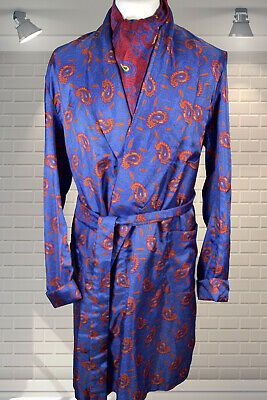 Vintage TOOTAL Mod Gents 1960s Dandy Paisley Dressing Gown Smoking Hefner Jacket