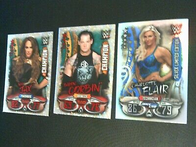 Topps Slam Attax Live Limited Edition Card + 2 Champion Cards Rare