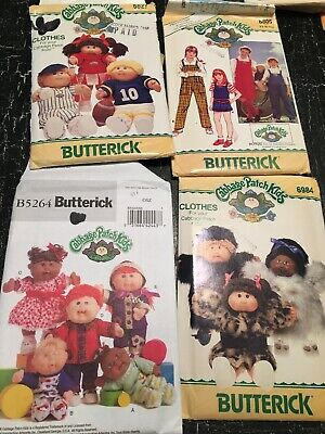 butterick cabbage patch kids 6984 6805 6734  6027 5264 sewing patterns dolls
