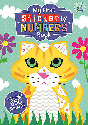 My First Sticker By Numbers Book Children Gift Activity Stocking Filler NEW