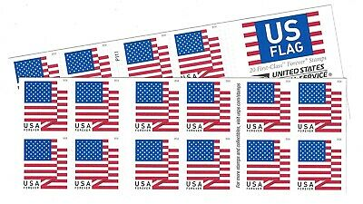 USPS US Flag 2017 Forever Stamps - 40 Pieces