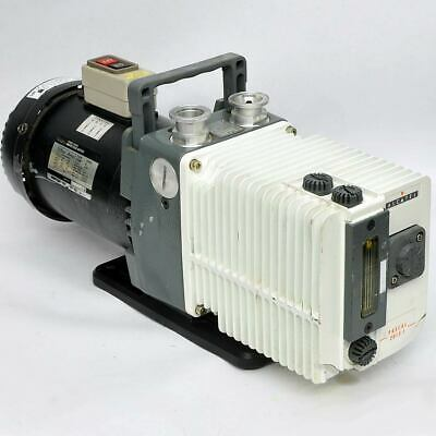 Alcatel 2015I Vacuum Pump Dual Stage Rotary Vane 200V 3phase AS-IS Cracked Fins