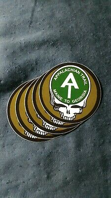 5 Grateful Dead Steal Your Face Appalachian Trail Stickers. 2.5 Inch.