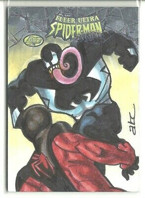 2017 Fleer Ultra Spider-Man Venom Sketch 1/1 Artist Proof Bekah & Adam Cleveland