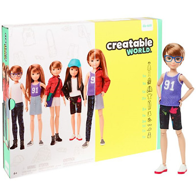 Creatable World Deluxe Character Kit Customizable Doll Copper Hair  IN HAND